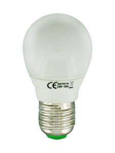 Bombilla fluorescente bajo consumo esferica 220v 9w 45w for Bombilla bajo consumo e27
