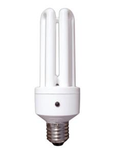 Bombilla fluorescente bajo consumo sensor dia noche for Bombilla sensor crepuscular