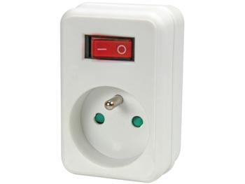 Enchufe con interruptor toma de espiga 1 toma velnetbp1sw - Enchufes con interruptor ...