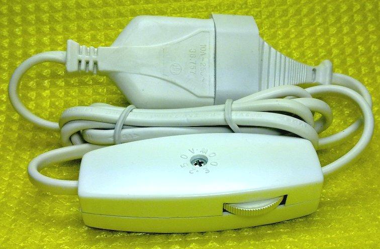 Regulador de luz con interruptor y cable 300w blanco for Interruptor regulador de luz