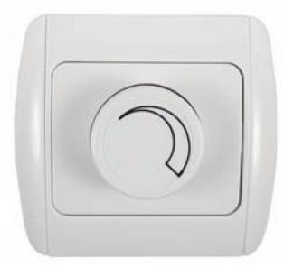 Regulador de luz empotrable blanco 600w daylu1230 for Interruptor regulador de luz