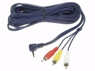CABLE AUDIO VIDEO JACK MACHO 3.5mm 4 POLOS A 3 x RCA MACHO 2 METROS -