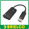 ADAPTADOR CONECTOR USB-C A CONECTOR JACK 3,5MM AUDIO +  USB-C DE CARGA BD10915 -