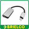 ADAPTADOR CONECTOR USB LIGHTNING A CONECTOR JACK 3,5MM AUDIO + USB LIGHTNING DE CARGA BD10920 -