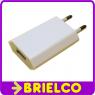 ALIMENTADOR CARGADOR USB CLAVIJA RED 220V SALIDA USB HEMBRA 5V1A 67X36MM BD10902 -