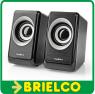ALTAVOCES PAREJA MINI AMPLIFICADOS ALIMENTACION USB 5V CONEXIÓN JACK 3,5 BD6386 -
