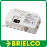 AMPLIFICADOR ANTENA TV INTERIOR UHF/VHF 2 SALIDAS FILTRO LTE 4G TM ELECTRON BD5389 -