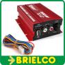 AMPLIFICADOR MINI ESTEREO HIFI 12VDC 2X20W RMS 500W PMPO CONTROL VOLUMEN BD11751 -