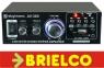 AMPLIFICADOR STEREO 2X40W MAX KARAOKE 220V 12V USB SD CARD FM CON MANDO BD10700 -