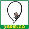 ANTIRROBO METALICO 80CM CON LLAVE DIAMETRO 10MM COBERTURA PLASTICO NEGRO BD4039 -
