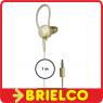AURICULAR MONO PLASTICO JACK 3.5MM CABLE TRENZADO 1M SOPORTE OREJA 3344 BD1285 -