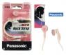 AURICULARES DE BOTON CON CLIP PANASONIC RP-HNJ10 JACK 3.5MM ESTEREO ROSA BD4916 -