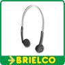 AURICULARES ESTEREO DE DIADEMA CABLE 1.2M ADAPTADOR JACK 3.5MM - 6.3MM BD6622 -