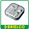 AURICULARES ESTEREO MINI CON MICROFONO MANOS LIBRES BLANCO LIGTHNING BD5383 -