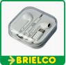 AURICULARES ESTEREO MINI CON MICROFONO MANOS LIBRES BLANCO CONECTOR USB-C BD5382 -