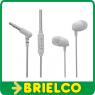 AURICULARES ESTEREO MINI CON MICROFONO MANOS LIBRES BLANCO SONIDO HD BD5379 -