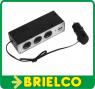 BASE ALIMENTACION TOMA MECHERO AUTO COCHE 3 ZOCALOS HEMBRA 12V + USB 5V BD9257 -
