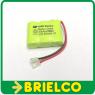 BATERIA PILA RECARGABLE PACK 1/2XAAA 3,6V 345MA NI-MH CABLE CONECTOR BD10420 -