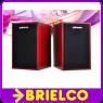MINI ALTAVOZ 2.0 DE MADERA PC PORTATIL ENTRADA USB 3WX2 80DB 50-20000HZ BD131 -