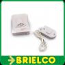 TIMBRE CAMPANA ELECTRONICO 86DB TAMAÑO 8,4x6,5CM CABLE 88 CM ABS 2xAA BD3127 -