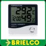 TERMOMETRO DIGITAL INTERIORES 4 PULGADAS LCD HIGROMETRO HTC-1 CALENDARIO BD3315 -