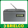 RADIO DIGITAL PORTATIL FM/PLL COLOR GRAFITO ALARMA SINTONIZADOR DIGITAL BD687 -
