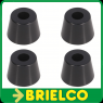 PATA ATORNILLABLE TRONCO-CONICA PVC NEGRO DIAMETRO INT 3,8MM TOTAL 28MM BD6911 -