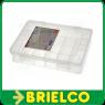 ESTUCHE CAJA PLASTICO CON SEPARACIONES 180X149X40MM POLIPROPILENO BLANCO BD6917 -