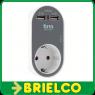 CARGADOR DOBLE USB GRAFITO  AC 100-240V, 50Hz MAX 3680W SAL DC 5V/ 2400mA BD700 -