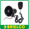 SIRENA MEGAFONO 7 TONOS 12V 100W NEGRA DIAMETRO FRONTAL 120MM LARGO 145MM BD9267 -