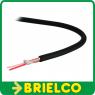 CABLE MICROFONO APANTALLADO 2 HILOS MALLA Y ALGODON MANGUERA 6MM EXT 100M BD4388 -