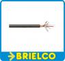 CABLE MICROFONO APANTALLADO 2 HILOS MAS MALLA Y ALGODON MANGUERA 6MM 100M BD6544 -