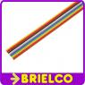 1 METRO DE CABLE PLANO 14 VIAS 28AWG MULTICOLOR CINTA PVC RASTER 1.27MM BD11410 -