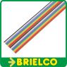 1 METRO DE CABLE PLANO 20 VIAS 28AWG MULTICOLOR CINTA PVC RASTER 1.27MM BD11412 -