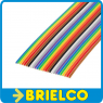 1 METRO DE CABLE PLANO 24 VIAS 28AWG MULTICOLOR CINTA PVC RASTER 1.27MM BD11413 -