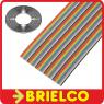 1 METRO CABLE PLANO 50 VIAS 28AWG MULTICOLOR 10 COLORES 5 REPETICIONES BD11415 -