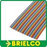 1 METRO DE CABLE PLANO 60 VIAS 28AWG MULTICOLOR CINTA PVC RASTER 1.27MM BD11416 -