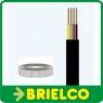 CABLE TELEFONICO PLANO FLEXIBLE 4 HILOS ROLLO CARRETE TELEFONIA 100M NEGRO BD4329 -