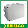CAJA ESTANCA PLASTICO PVC 190X150X80MM IP55 IK08 CON 10 CONOS Y TORNILLOS BD4259 -