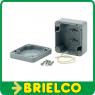 CAJA PLASTICO ABS IP65 GRIS PARA MONTAJE ELECTRONICO 80X82X55MM TAPA TORNILLOS BD6435 -
