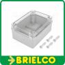 CAJA PLASTICO GRIS PARA MONTAJE ELECTRONICO 150X110X70MM TAPA TRANSPARENTE BD6918 -