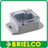 CAJA PLASTICO GRIS PARA MONTAJE ELECTRONICO 58X64X35MM TAPA TRANSPARENTE IP65 BD6934 -