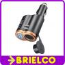 CARGADOR ALIMENTADOR 12VCC A USB 5V 1000MA Y SALIDA MECHERO COCHE 2 EN 1 BD4721 -