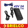 CARGADOR BATERIA LIPO 42V 2A SCOOTER ELECTRICO CONECTOR  3 PINES BD4730 -