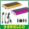 CARGADOR SOLAR CON BATERIA 1350MA PARA MOVIL PDA CAMARA Y OTRO 94X44X10MM BD5716 -
