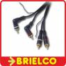 CONEXION 2 RCA MACHO ACODADOS A 2 RCA MACHO RECTOS Y CABLE REMOTE AUTO 5M BD3507 -