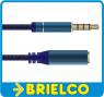 CONEXION AUDIO JACK 3,5MM 4 POLOS MACHO A HEMBRA METALICO CABLE TRENZADO 3M BD6541 -