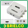 CONVERTIDOR ADAPTADOR HDMI A RCA A/V PAL/NTSC ALIMENTAC 5V CON CABLE USB BD9286 -