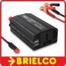 CONVERTIDOR INVERSOR TENSION 12VDC A 220VAC 300W PINZAS TOMA DE MECHERO BD11760 -