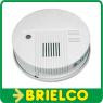 DETECTOR DE HUMO CON ALARMA INDICADOR BATERIA BAJA 220VAC Y 9VDC BLANCO BD4203 -
